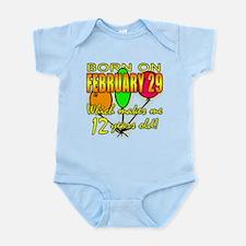 Leap Year Birthday 48 Yrs Infant Bodysuit