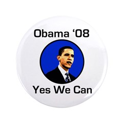 "Obama '08 Yes We Can Big 3.5"" Button"