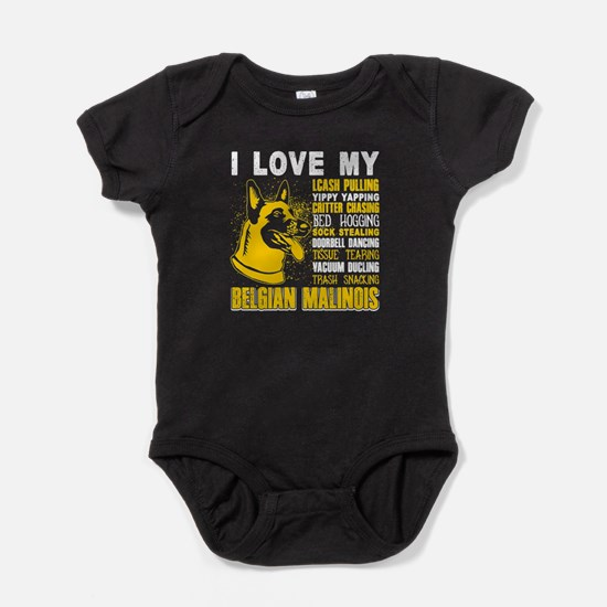 Love With My Belgian Malinois Dog Shirt Body Suit