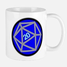Blue d20 Mug