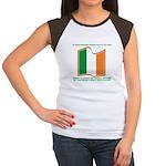 Wavy Irish Flag Women's Cap Sleeve T-Shirt