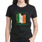 Wavy Irish Flag Women's Dark T-Shirt