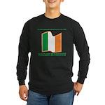 Wavy Irish Flag Long Sleeve Dark T-Shirt