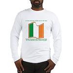 Wavy Irish Flag Long Sleeve T-Shirt