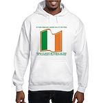 Wavy Irish Flag Hooded Sweatshirt