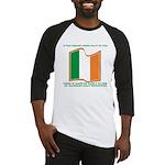Wavy Irish Flag Baseball Jersey