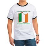 Wavy Irish Flag Ringer T