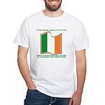 Wavy Irish Flag White T-Shirt