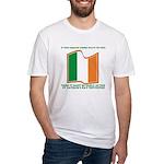 Wavy Irish Flag Fitted T-Shirt