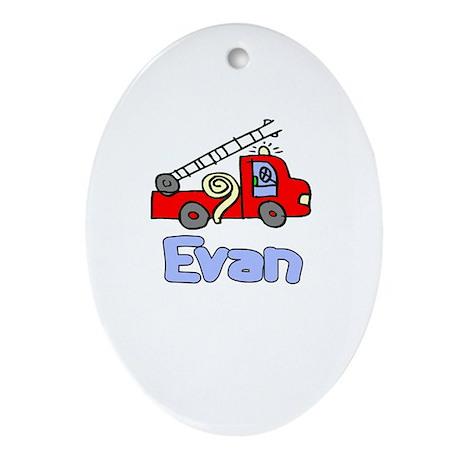 Evan Oval Ornament