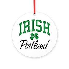 Portland Irish Ornament (Round)
