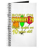 Leap year Journals & Spiral Notebooks