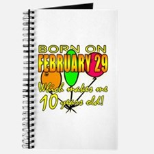 Born on Leap Year, 10 Years Old Journal
