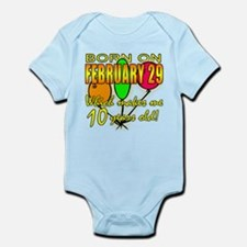 Born on Leap Year, 10 Years Old Infant Bodysuit