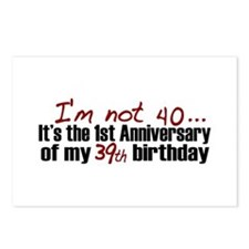 I'm not 40 Postcards (Package of 8)