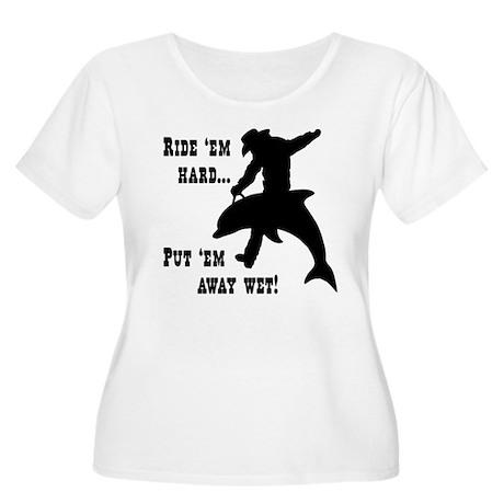 RHPAW (white) Women's Plus Size Scoop Neck T-Shirt