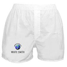 World's Coolest WHITE SMITH Boxer Shorts