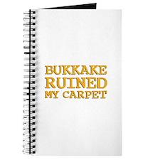 Bukkake ruined my carpet Journal