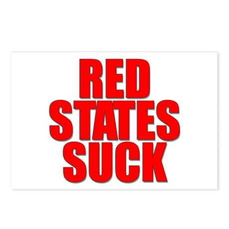 Red States Suck Postcards (Package of 8)
