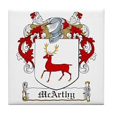 McArthy Family Crest Tile Coaster