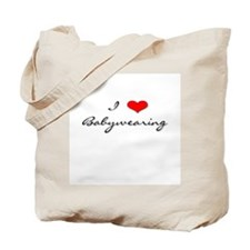 I Love Babywearing Tote Bag