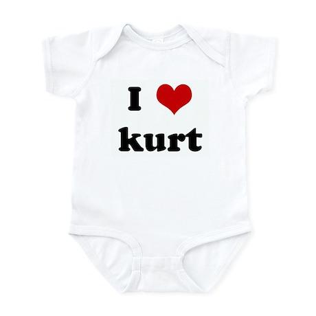 I Love kurt Infant Bodysuit