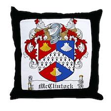 McClintock Family Crest Throw Pillow
