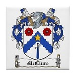 McClure Family Crest Tile Coaster