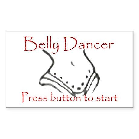 Belly dancer Rectangle Sticker