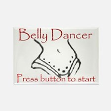 Belly dancer Rectangle Magnet