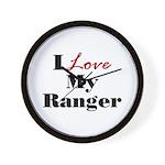 I Love My Ranger Wall Clock