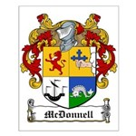 McDonnell Family Crest Small Poster