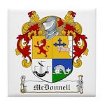 McDonnell Family Crest Tile Coaster