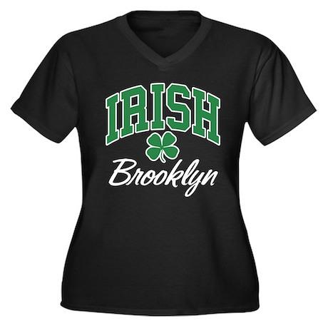 Brooklyn Irish Women's Plus Size V-Neck Dark T-Shi