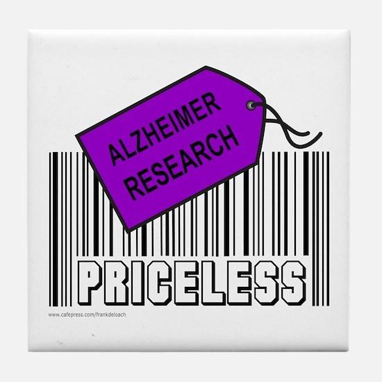 ALZHEIMER CAUSE Tile Coaster