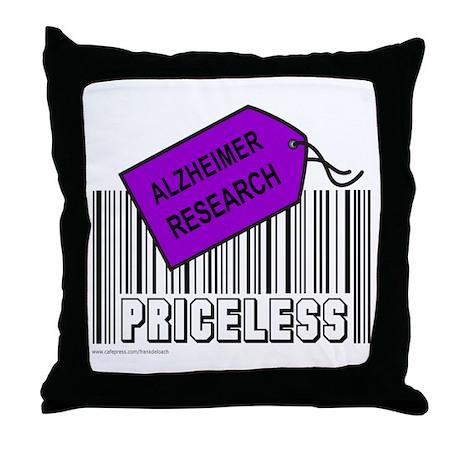ALZHEIMER CAUSE Throw Pillow