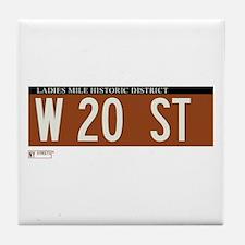 20th Street in NY Tile Coaster
