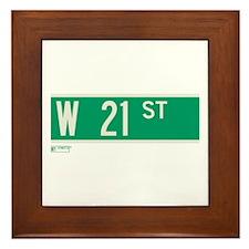 21st Street in NY Framed Tile