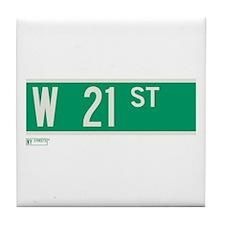 21st Street in NY Tile Coaster