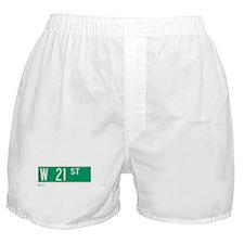 21st Street in NY Boxer Shorts