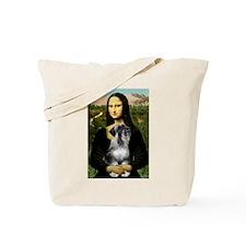 Mona Lisa & Schnauzer Tote Bag