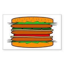 HAMBURGER Rectangle Decal