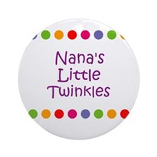 Nana's Little Twinkles Ornament (Round)