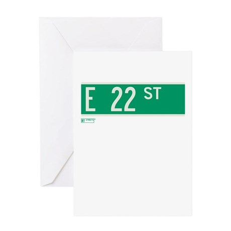 22nd Street in NY Greeting Card