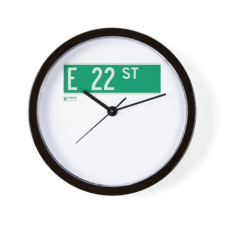22nd Street in NY Wall Clock