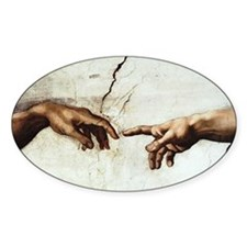 Creation of Man Oval Decal