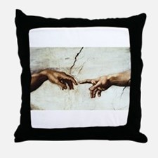 Creation of Man  Throw Pillow