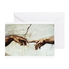 Creation of Man Greeting Card