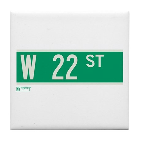 22nd Street in NY Tile Coaster