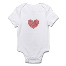 Crumbled Red Heart Valentine Infant Bodysuit